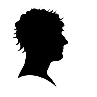 340x340 Free Cliparts Male, Silhouette, Profile