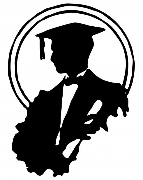 491x615 Male Graduate Silhouette Clipart Free Stock Photo