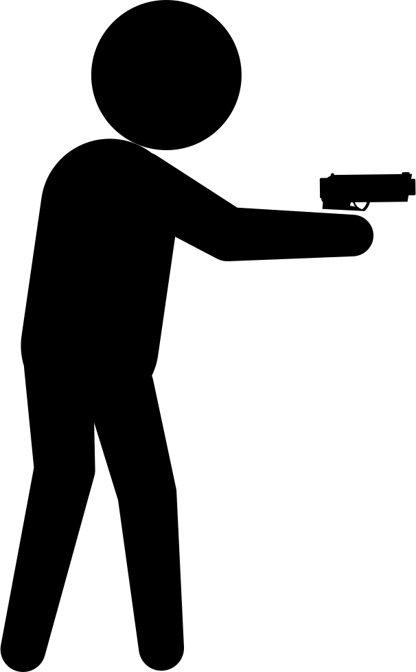 606x980 Armed Criminal Male Silhouette Svg Png Icon Free Download ( 32447