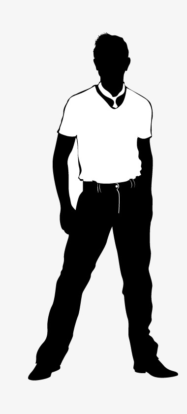380x841 Male Models, Man Silhouette, Vector Man Png And Vector For Free