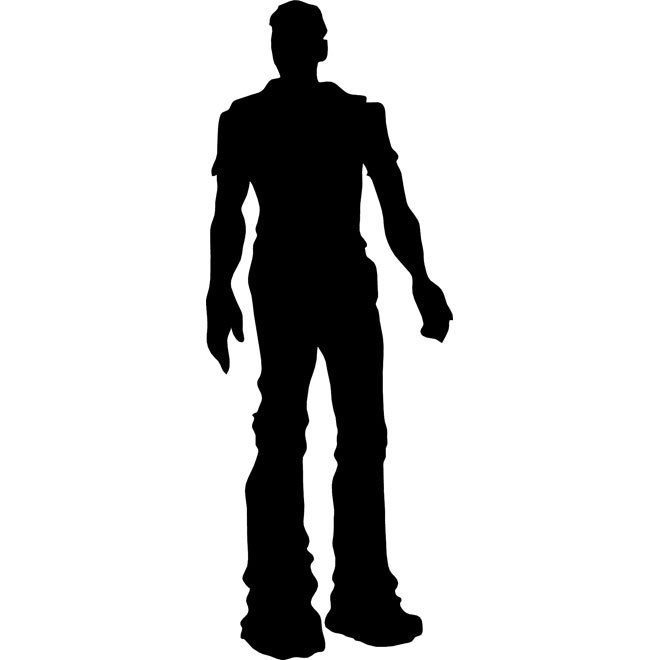 660x660 Man Silhouette Free Vector 123freevectors