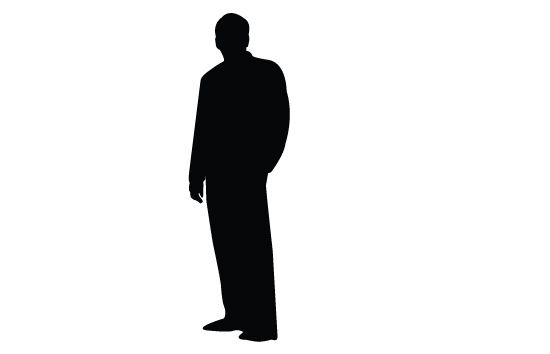 550x354 Men Silhouette Vector Vector Free Download And Silhouettes