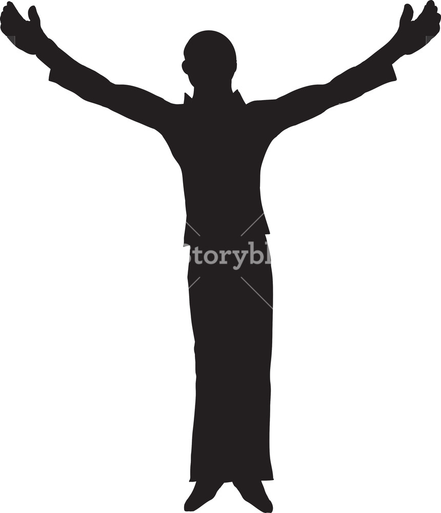 860x1000 Vector Man Silhouette Royalty Free Stock Image
