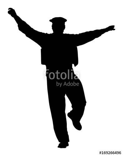 394x500 A Greek Evzone Dancing Vector Silhouette Isolated On White