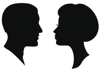 425x298 Creative Man And Woman Silhouettes Vector Set Silhouette