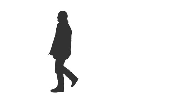 590x332 Pedestrian Man Walks In Silhouette, Alpha Channel By Mgpremier