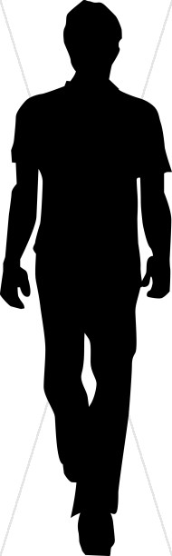190x612 Silhouette Of Man Walking Church People Clipart