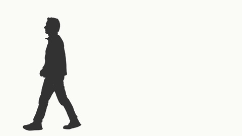 480x270 Silhouette Of A Man Walking On Transparent Background, Alpha