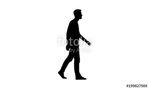 500x300 Silhouette Of A Man Walking Stock Image And Royalty Free Vector