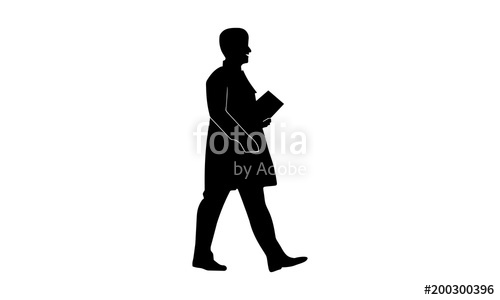 500x300 The Silhouette Of A Male Doctor Is Walking