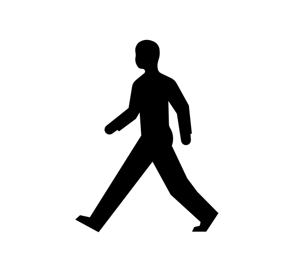600x519 Male Body Walking Clip Art