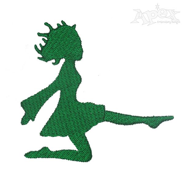 600x600 Irish Dancer Silhouette Cutouts. Irish Dancer Girl Vinyl Decal