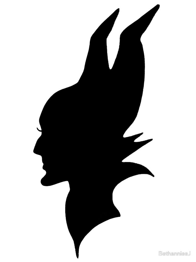 750x1000 Black Maleficent Silhouette By Bethannieej Sleeping Beauty