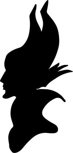 240x500 Maleficent Silhouette Maleficent, Silhouettes And Craft