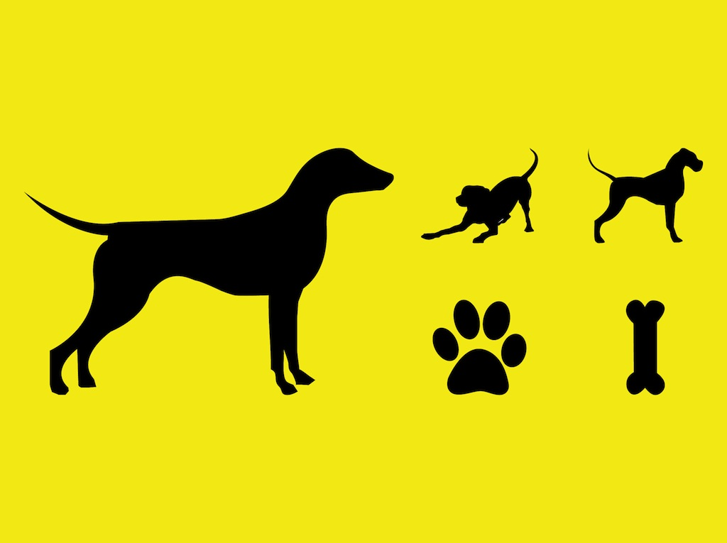 1024x765 Dogs Vector Silhouettes Vector Art Amp Graphics