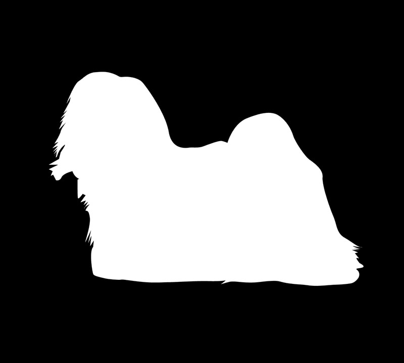 800x720 Lhasa Apso Silhouette Gift Idea Posters By Value123 Redbubble