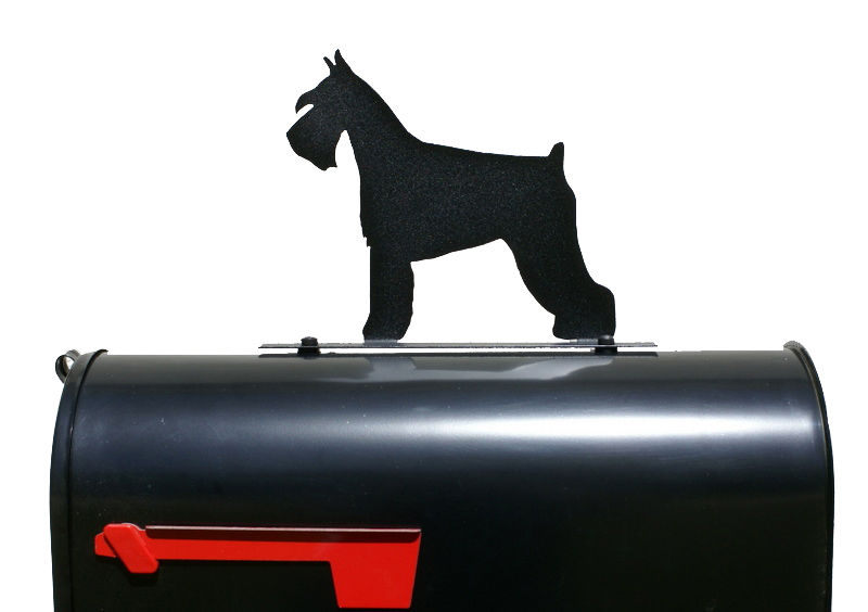 800x564 Schnauzer Dog Silhouette Mailbox Topper Sign