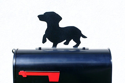 400x264 Dachshund Dog Silhouette Mailbox Topper Sign