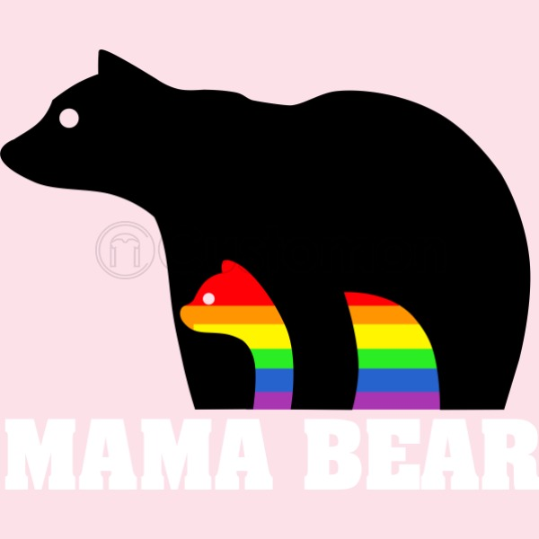 600x600 Mama Bear Baby Bib