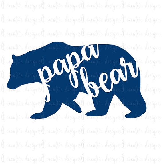 570x572 Papa Bear Svg, Papa Bear, Svg File, Father's Day Svg, Cricut Files