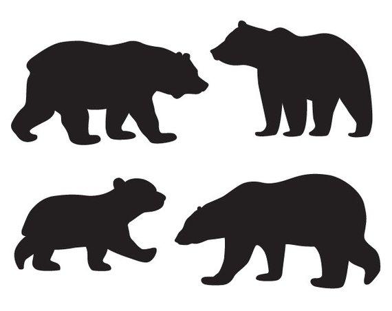 570x452 Baby Bear Clipart Woodland Clipart Mama Bear Svg Bears