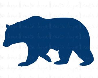 340x270 Bear Svg, Mama Bear Baby Bear Svg, Bear Silhouette, Mama Bear Svg