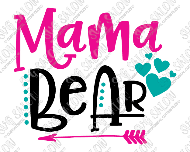625x500 Mama Bear SVG Cut File Set In EPS DXF JPEG