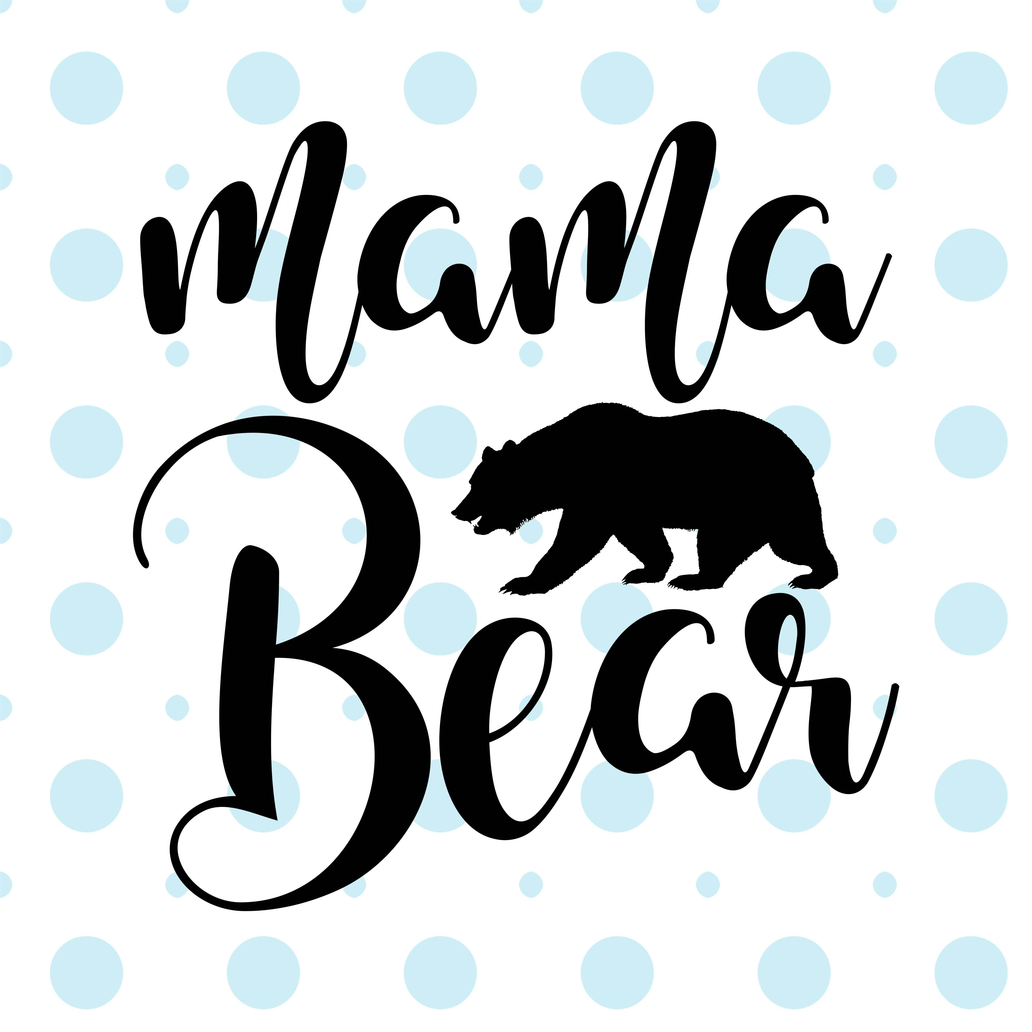 3500x3500 Mama Bear Svg Png Eps Dxf By Theblackca Design Bundles