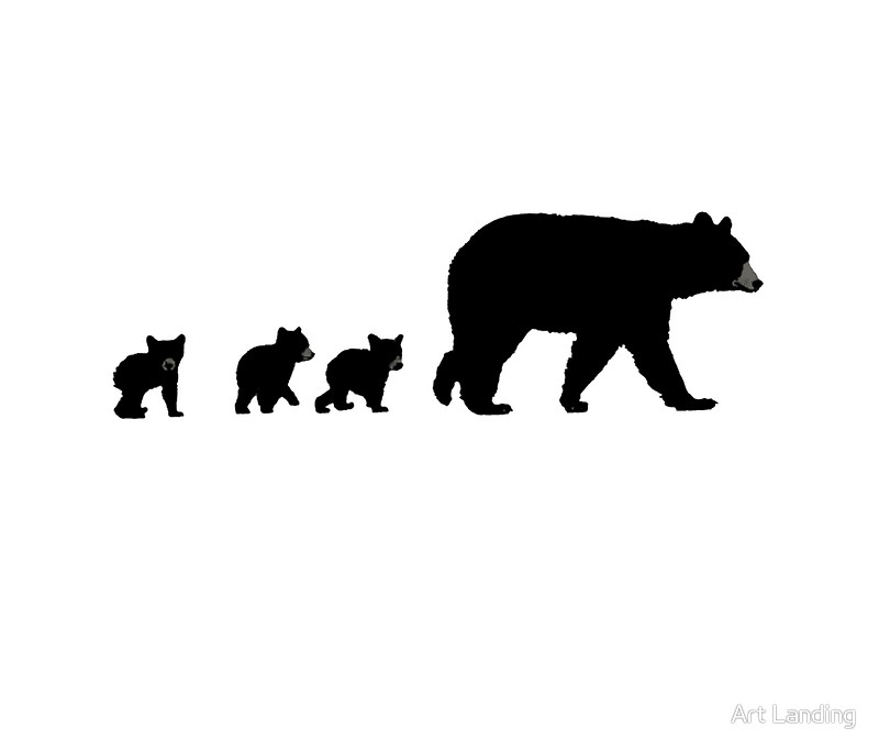 800x682 Mama Bear And Her Cubs. Travel Mugs By Art Landing Redbubble
