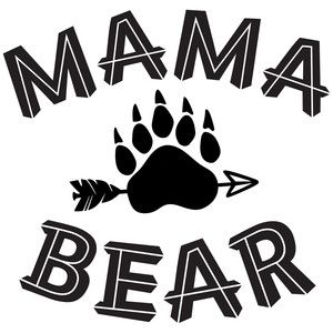 300x300 Mama Bear Silhouette Design, Silhouettes And Bears