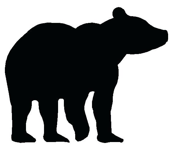 566x550 Outline Of A Bear Polar Bear With Playing Cubs Outline Vector
