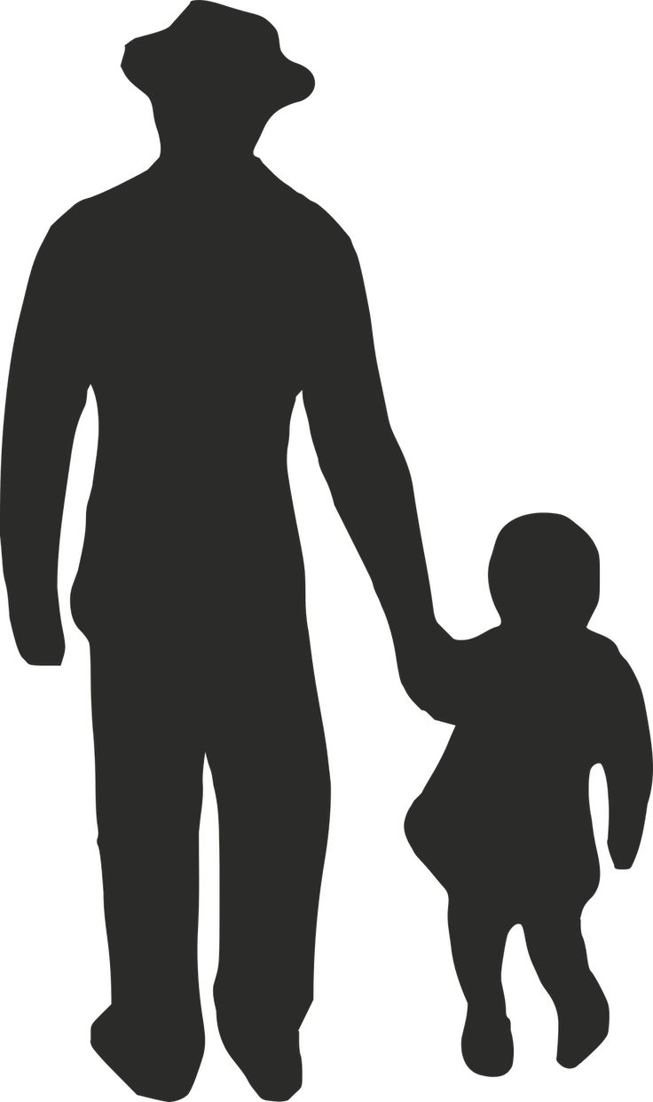 Man And Child Silhouette