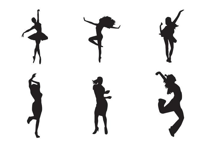700x490 Free Vector Dancing Girl Silhouettes