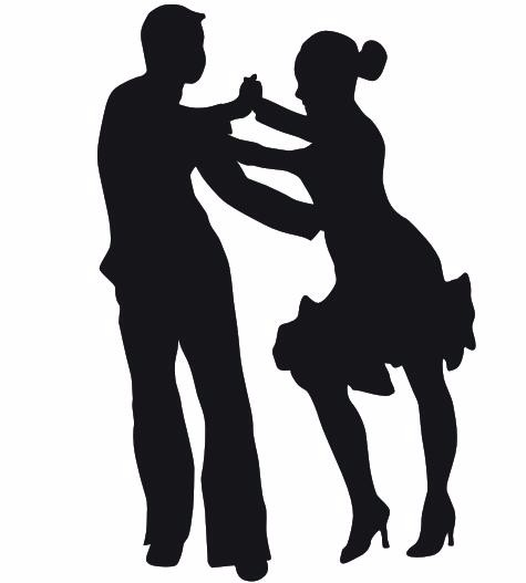 475x527 Man And Woman Dancing Latin Dance Mural Dance Wall Decal Wall