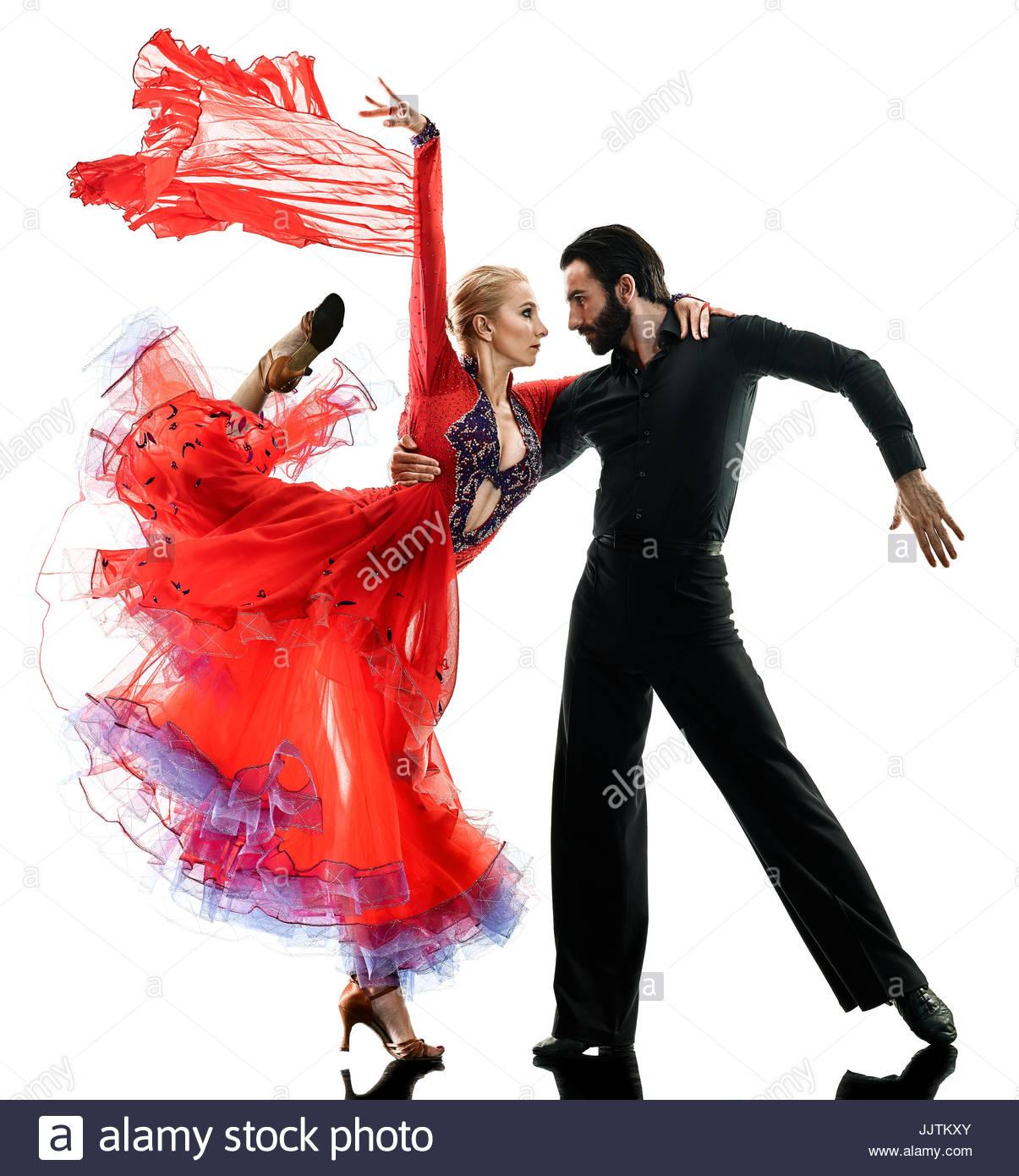 1205x1390 One Caucasian Man And Woman Couple Ballroom Tango Salsa Dancer