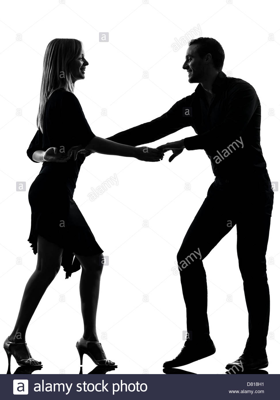 973x1390 One Couple Woman Man Dancing Dancers Salsa Rock In Silhouette