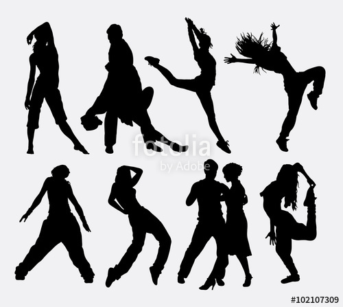 500x447 Cool Dancing 4, Man And Woman Dancer Profession Activity