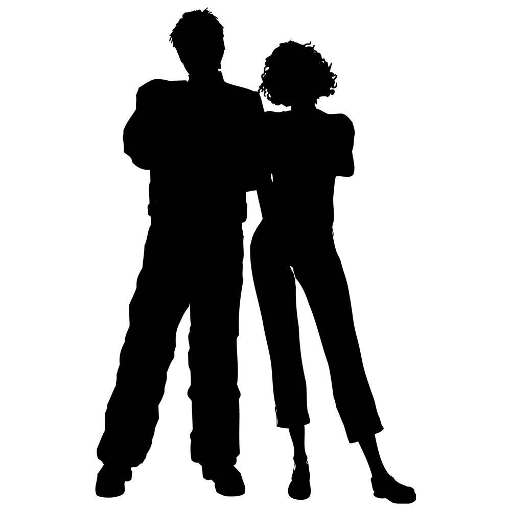 1000x1000 Man And Woman Standing Clipart