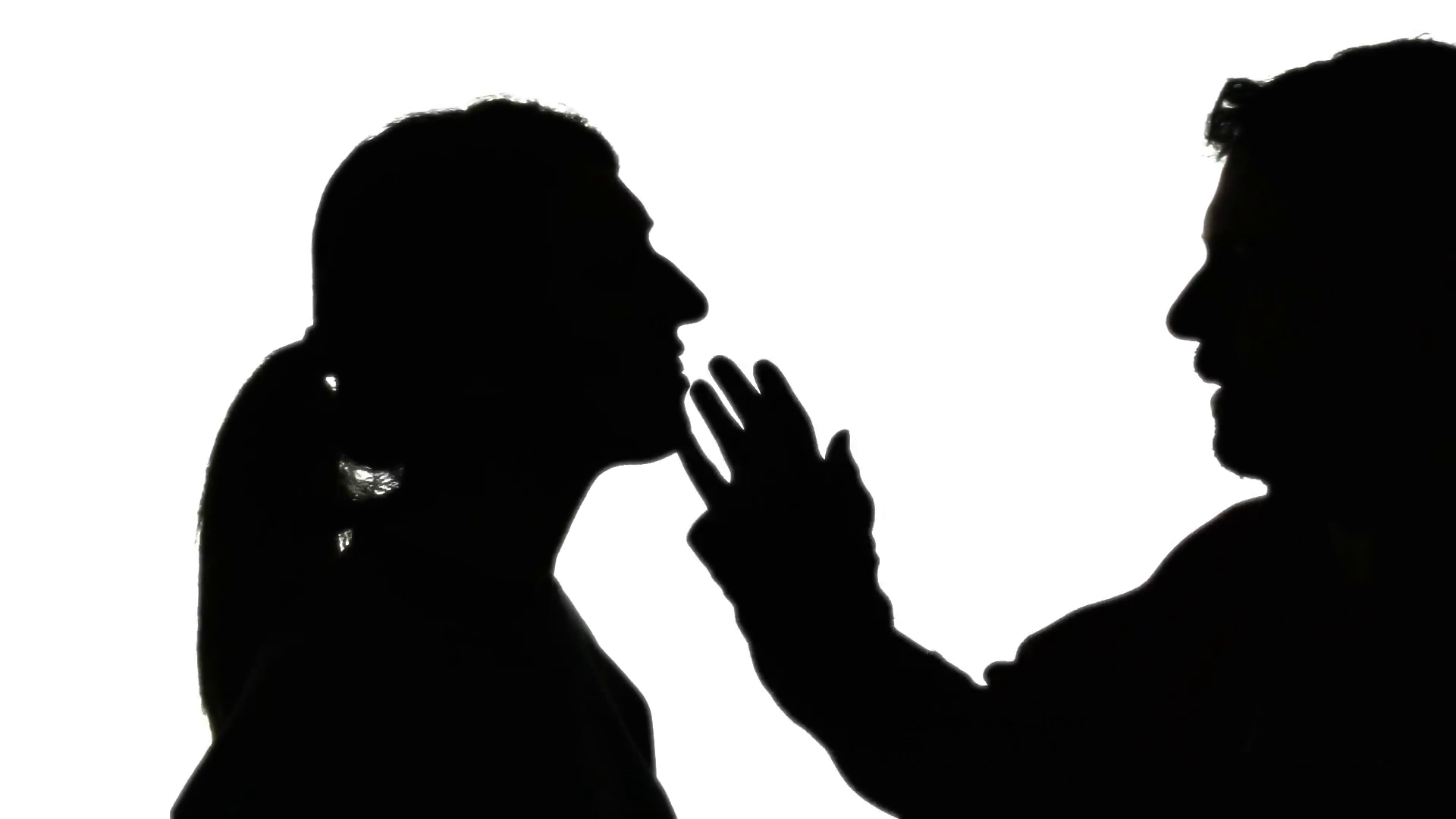 1920x1080 Silhouette Man Woman Making Out. A Man And A Woman Intensely