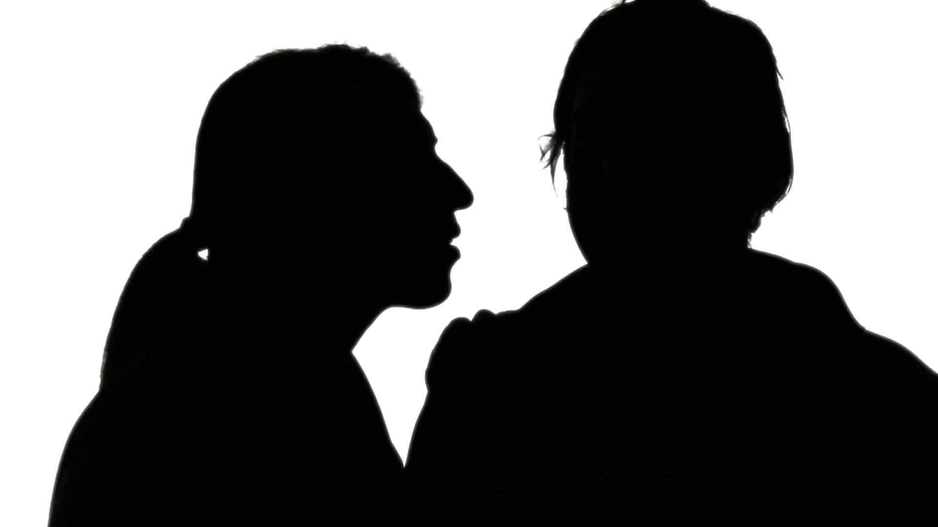 1920x1080 Silhouette Woman Man Secret Whisper. A Woman Whispering A Secret