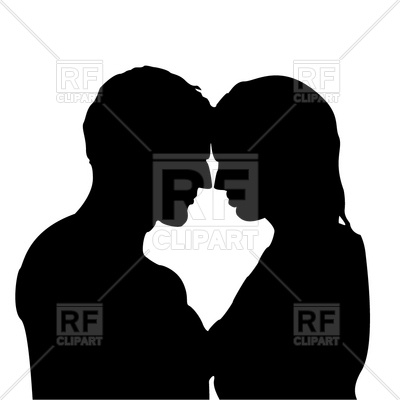 400x400 Silhouette Of Man And Woman Free Vector Clip Art Image