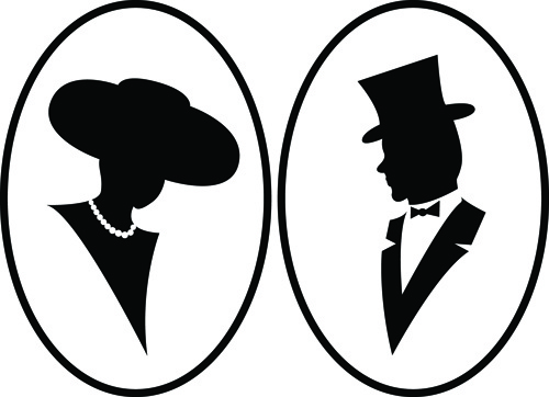 500x362 Creative Man And Woman Silhouettes Vector Set Free Vector