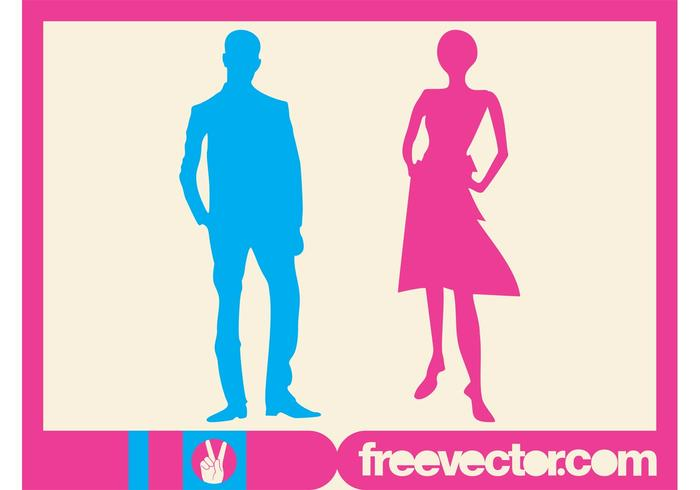 700x490 Man And Woman Silhouettes
