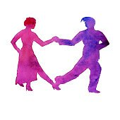 170x170 Man Carrying Woman Silhouette Premium Clipart