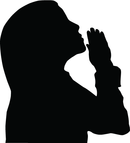 436x479 Clipart Free In Prayer Woman