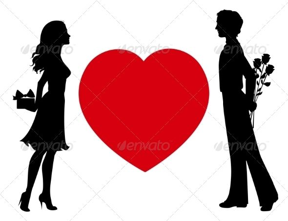 590x452 Silhouettes Of Man And Woman With Gifts Simplemente Yo