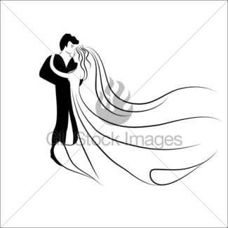 325x325 Man And Woman Faces Silhouettes Gl Stock Images