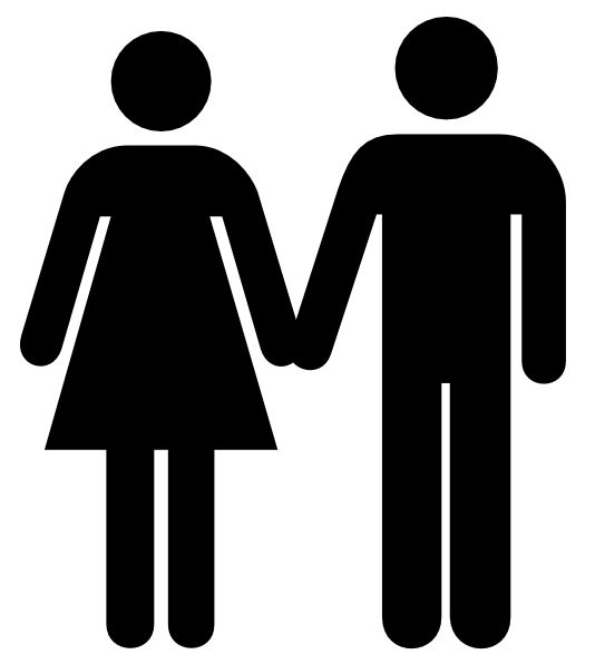 534x596 Man And Woman Icon 2 Clip Art