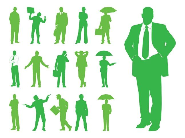 647x483 Businessman Vector Corporate vector graphics of a man wearing a