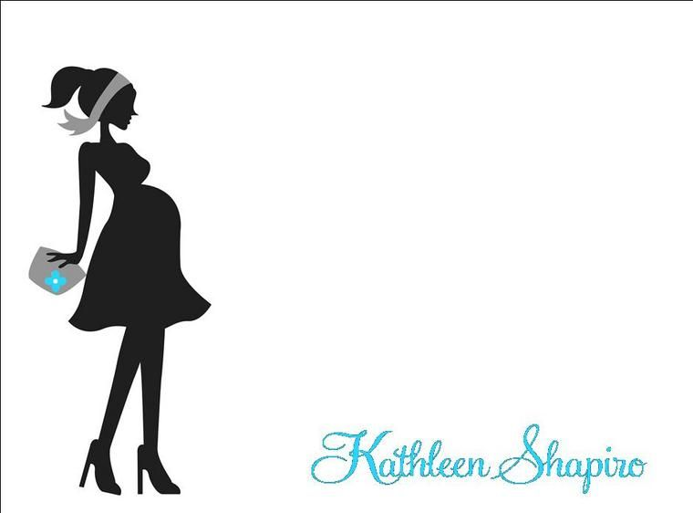 760x562 Mom To Be and Sonogram Silhouette pregnant woman digital clipart
